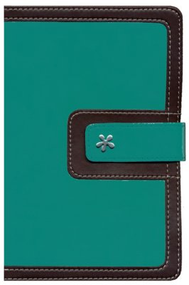 NIV Thinline Compact Bible-Turquoise/Chocolate Leathersoft