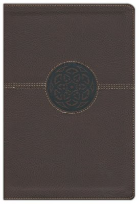 NIV Thinline Reference Bible/Large Print (Comfort Print)-Brown LeatherSoft
