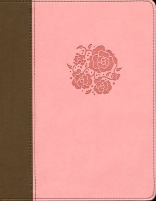 NIV Comfort Print Journal the Word Bible for Women Pink/Brown