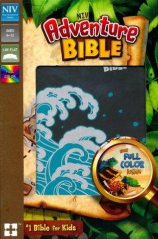 NIV Adventure Bible, (Full Color)-Gray Leathersoft