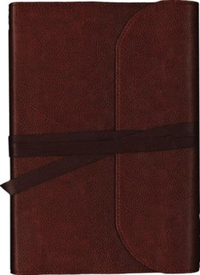 NKJV Journal the Word Bible, Large Print, Premium Leather, Brown