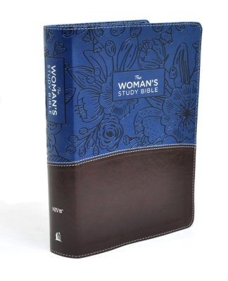 NIV Womans Study Bible-Blue/Brown Leathersoft