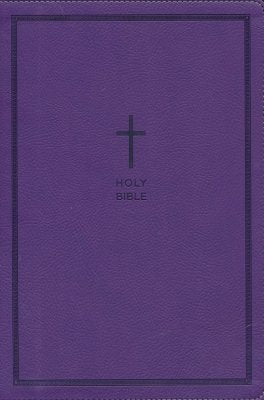 NKJV Large Print Thinline Reference Bible, Purple