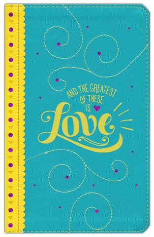 NLT Girls Life Application Personalized Study Bible imitation leather, teal/yellow