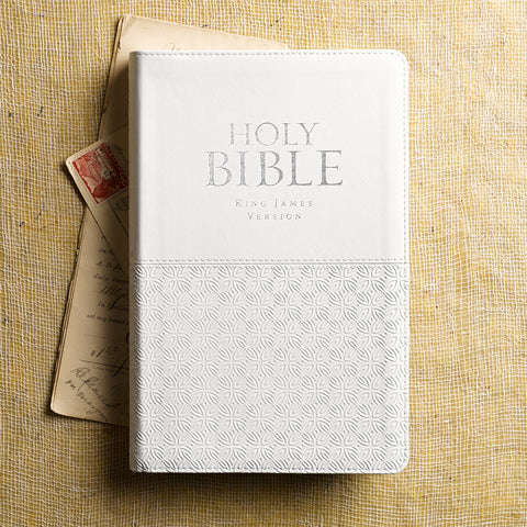 KJV Standard Indexed Bible White Textured-Avail 2.25.20