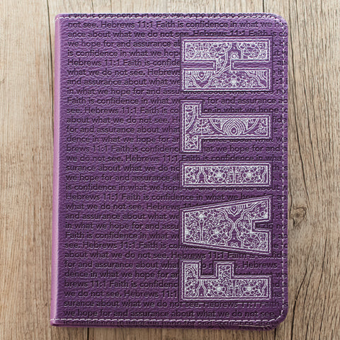 Faith Classic LuxLeather Journal in Purple