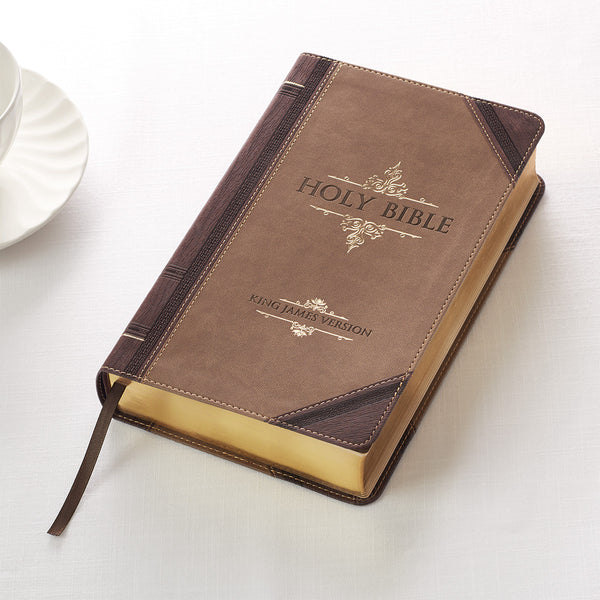 Holy Bible KJV Giant Print Brown