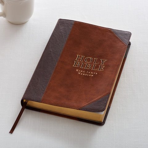 Holy Bible: KJV Thinline Large Print-Brown