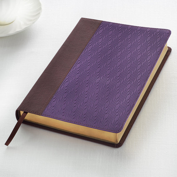 KJV Large Print  Two-tone Purple / Brown