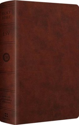 ESV Large Print Personal Size Bible, Chestnut