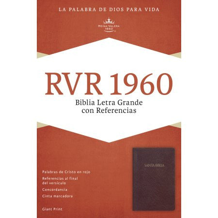 Spanish-RVR 1960 Giant Print Reference Bible-Burgundy LeatherTouch Indexed (Biblia Letra Grande Con Referencias)