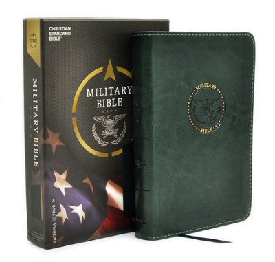 CSB Compact Military Bible, Green LeatherTouch for Soldiers