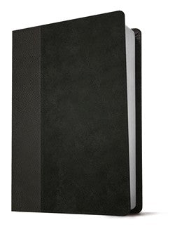 NLT Giant-Print Personal-Size Bible, Filament Enabled Edition--soft leather-look, black/onyx