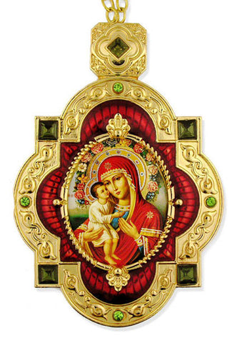Virgin Mary & Child Icon Ornament