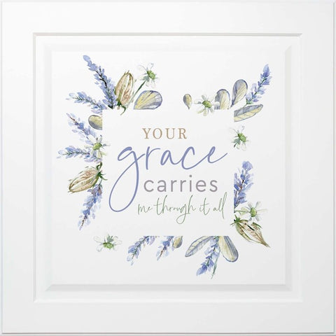 Wall Decor-Lavender Collection-Your Grace Carries Us Through (24 x 24)