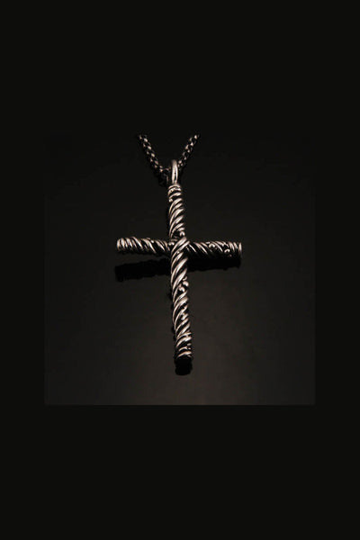 Sterling Silver Vine Cross