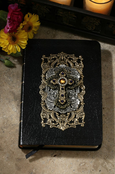 Limited Edition Jeweled Amethyst KJV Leather Bible