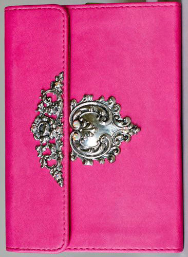 Decorated KJV Compact Pink Bible - New Testament