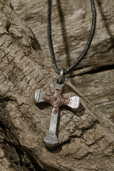 Steel and Copper Nail Cross