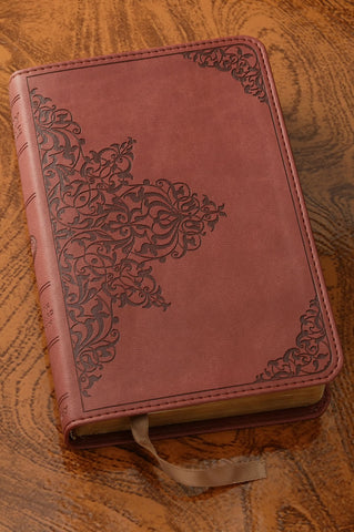 Chestnut Filigree Thinline Bible-ESV