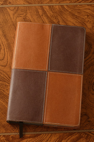Large Print Thinline Reference Bible Brown - NIV
