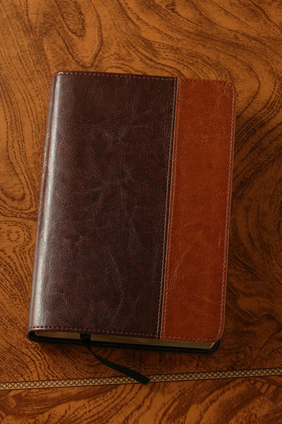 Compact Bible NLT Brown and Tan