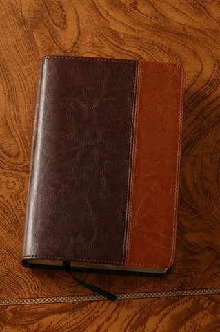 Large Print Compact Bible-NLT, Brown and Tan