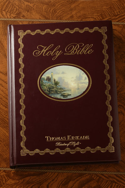 "NKJV Thomas Kinkade ""Lighting the Way Home"" Large Print Family Bible"