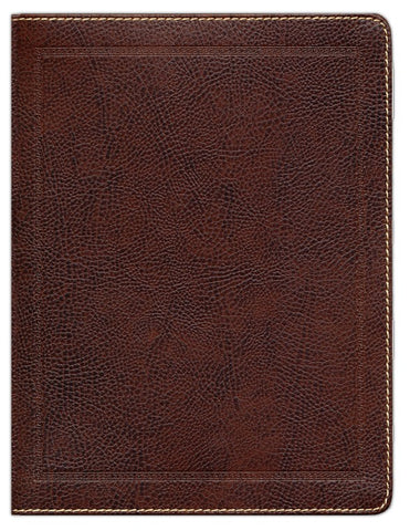 NKJV Journal the Word Bible, Large Print, Bonded Leather, Brown, Red Letter Edition