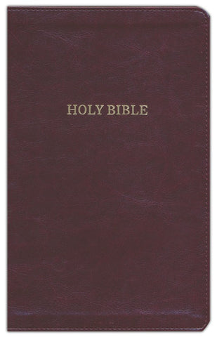 KJV Deluxe Thinline Reference Bible Leather-Look Burgundy Indexed