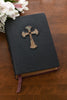 Handbound Custom Leather Bible Celtic Cross Patina Finish-KJV or NIV or NAB