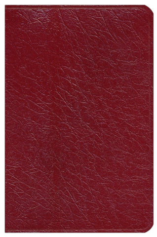 OLD SCOFIELD STUDY BIBLE CLASSIC EDITION, KJV, GENUINE LEATHER BURGUNDY THUMB-INDEXED