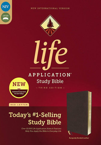 NIV Life Application Study Bible, Third Edition,  Bonded Leather, Burgundy Indexed