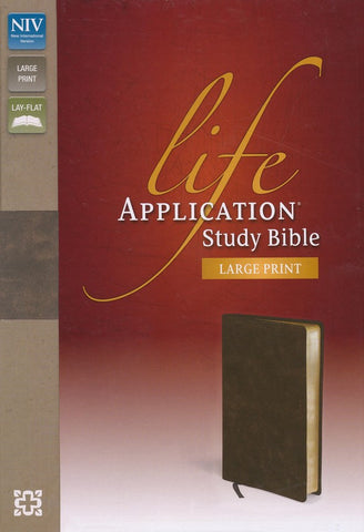 NIV Life Application Study Bible/Large Print-Distressed Brown Bonded Leather-Limited Quantities