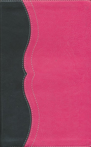 NIV Study Bible, Personal Size, Imitation Leather, Charcoal & Pink