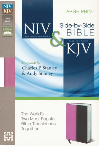 NIV & KJV Side-By-Side Bible/Large Print-Orchid/Chocolate Duo-Tone