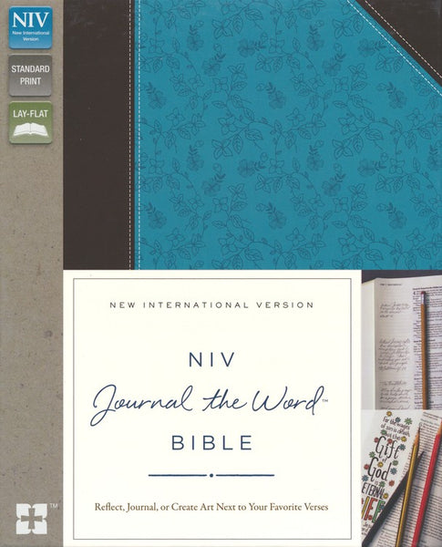 NIV Journal the Word Bible Soft Leather-Look Chocolate/Turquoise -  Limited Quantities