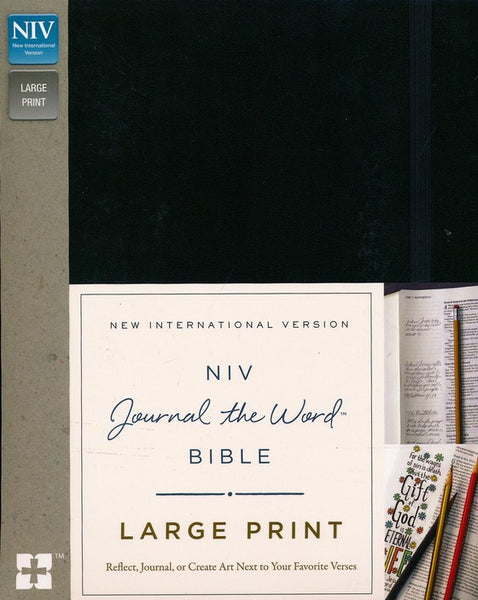 NIV Journal The Word Bible/Large Print-Black Hardcover