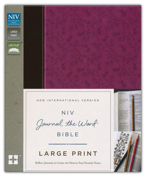 NIV Journal The Word Bible/Large Print-Orchid/Chocolate Duo-Tone