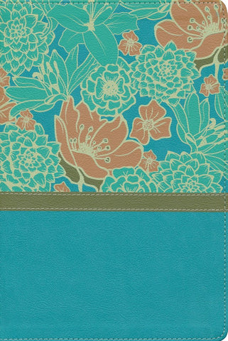 NIV Giant Print Thinline Bible-Turquoise Floral