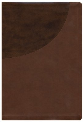 NIV Super Giant Print Reference Bible-Brown