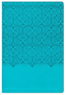 NIV Super Giant Print Reference Bible-Turquoise LeatherSoft