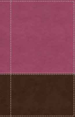 NIV-Giant Print Reference Bible Pink/Brown