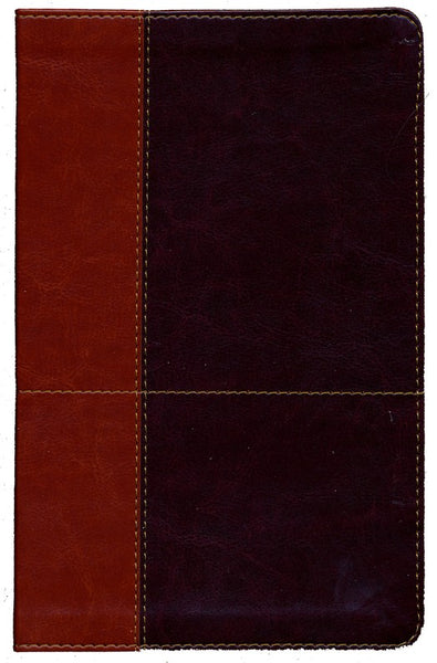 NIV Comfort Print Personal Size Reference Bible, Large Print, Imitation Leather, Brown