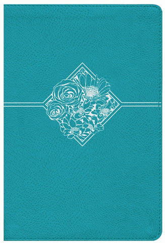 NIV Quest Study Bible (Comfort Print)-Teal Leathersoft Indexed The Only Q And A Study Bible