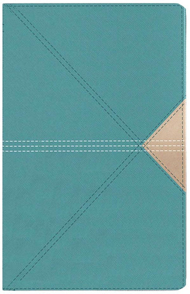 NASB Giant Print Thinline Bible, Red Letter Edition--soft leather-look, teal