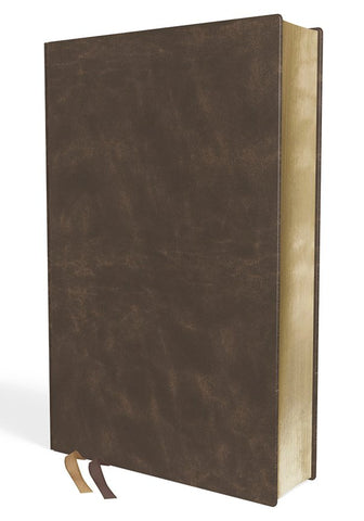 NIV Life Application Study Bible/Large Print (Third Edition)-Brown Bonded Leather Indexed