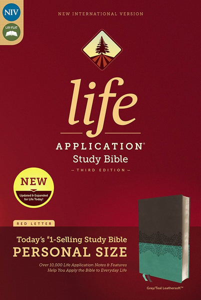 NIV Life Application Study Bible/Personal Size (Third Edition)-Gray/Teal Leathersoft Third Edition