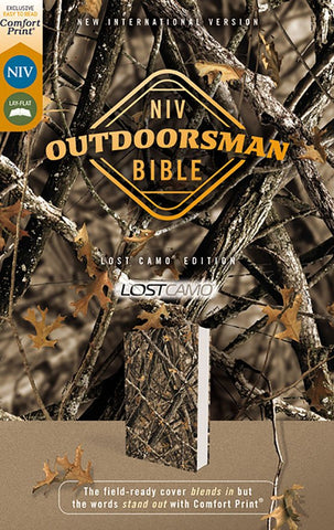 NIV Outdoorsman Bible-Lost Camo Edition (Comfort Print)-Woods Print Camo Leathersoft