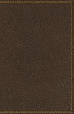 NIV Deluxe Single-Column Reference Bible (Comfort Print)-Brown Leathersoft